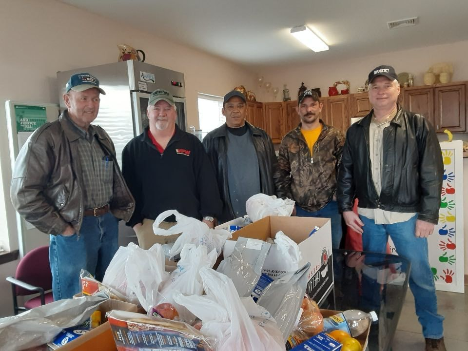 VFW Post 1991 (Jonesboro), 4679 (Harrisburg) and 4683 (Newport) help deliver food in Tuckerman, AR during the COVID-19 crisis.